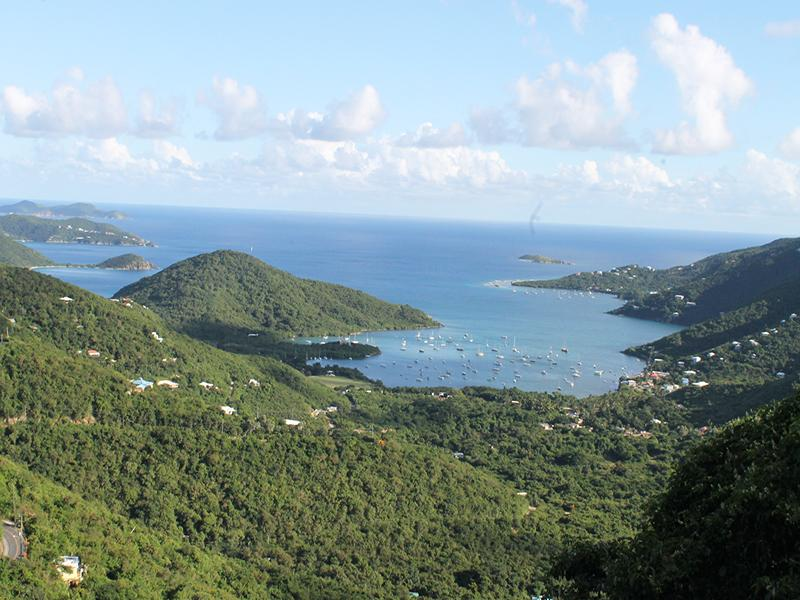 Inspiring Views of Coral Bay and the Caribbean Sea