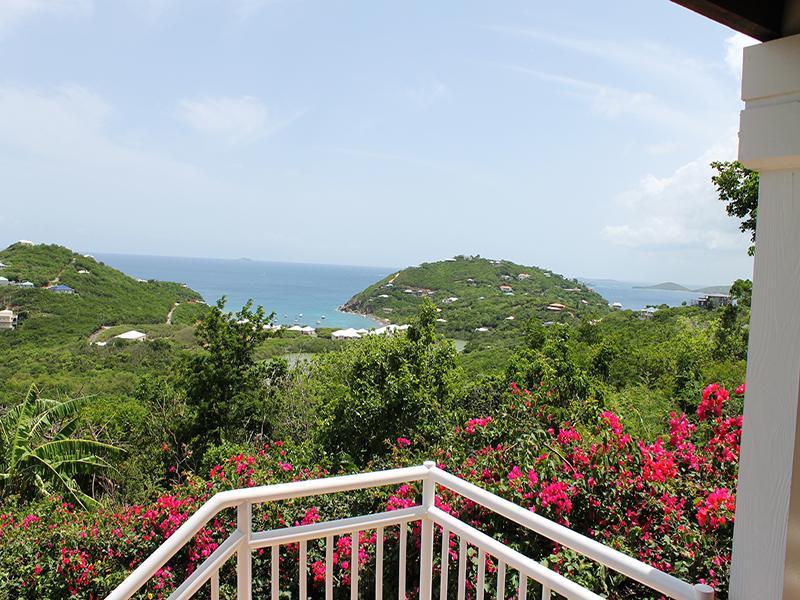 Beautiful ocean views beyond lush landscaping