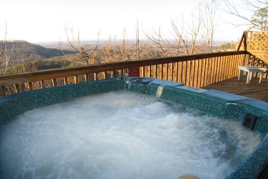 Hot Tub at Cozy Mountain View
