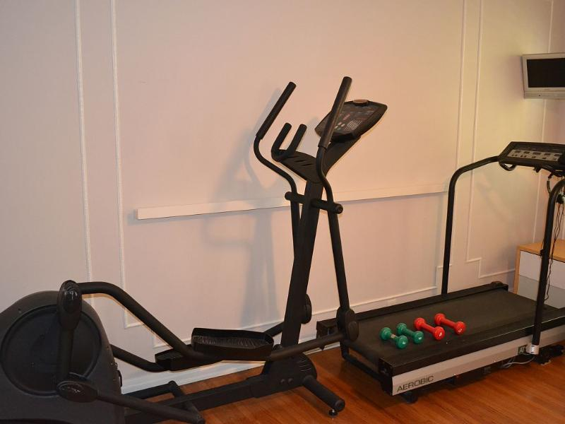 Exercise equipment for your use. Treadmill, elliptical trainer and weights available.