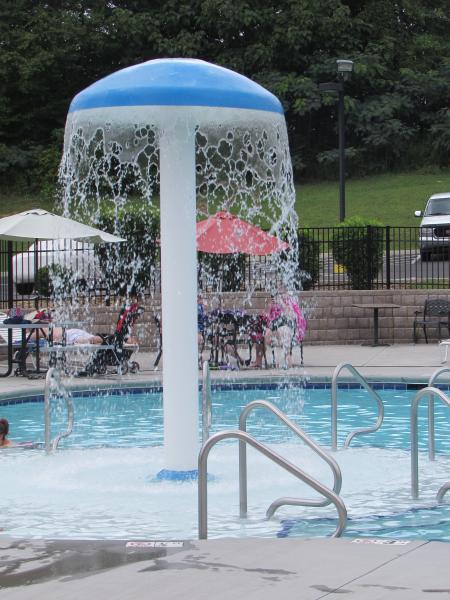 Kiddie area of pool