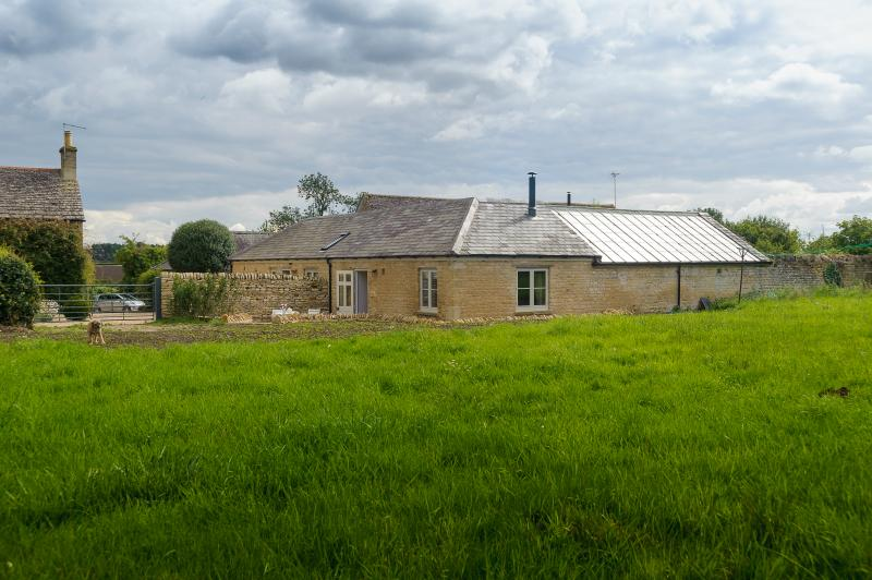 Half the cottage occupies a two acre paddock.