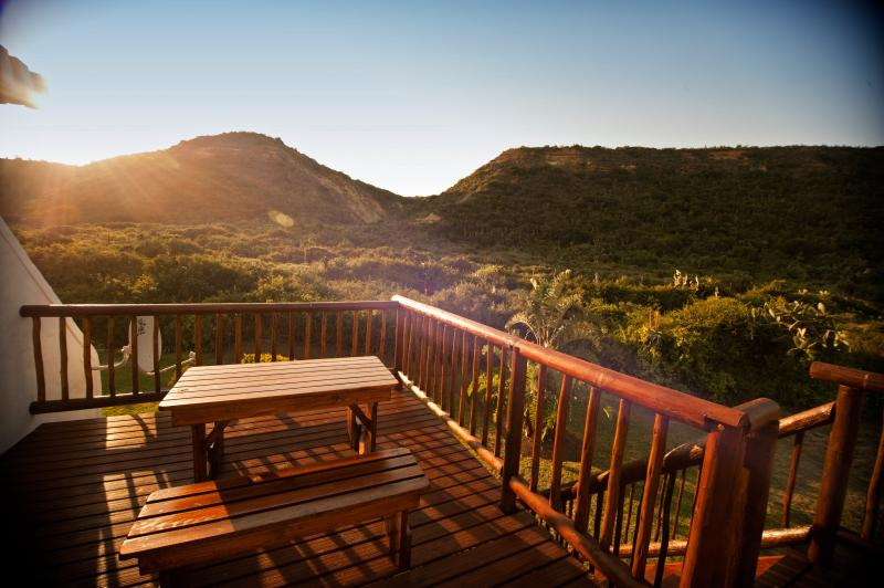 Stunning views of Addo Elephant Park from our viewing deck