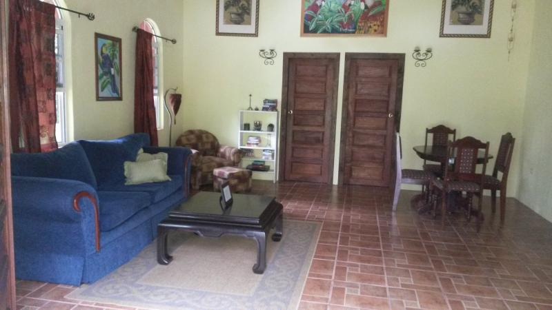 Full size living room in the Bougainvillea cabin