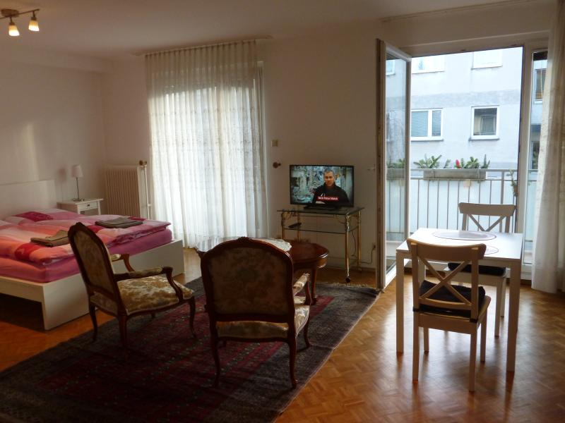 Antique studio with balcony and parking near Park of Schönbrunn