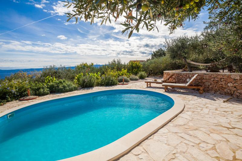 Family-friendly villa / pool and stunning view, vacation rental in Bol