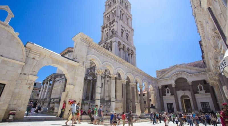 Town Split and its old part protected by Unesco, St. Dujam catedral