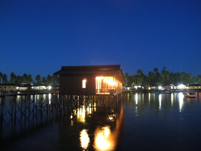 Eco Villa in the night