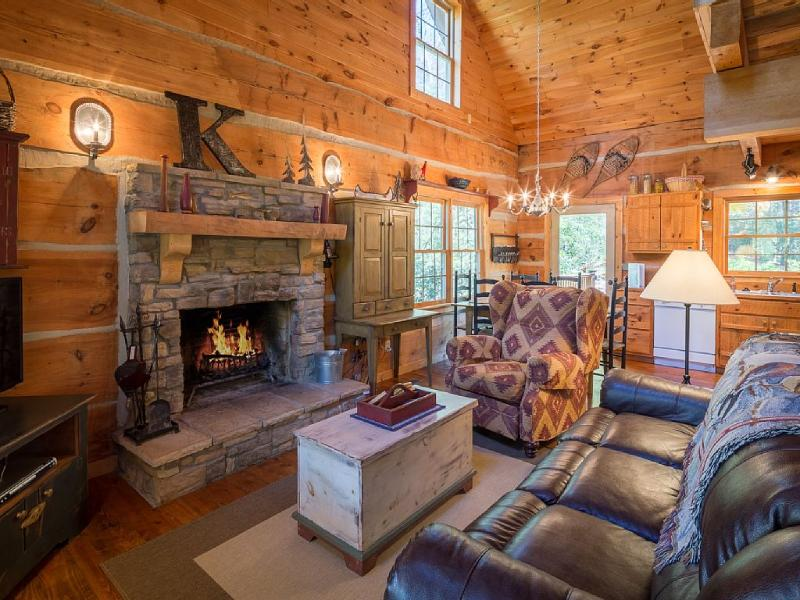 4 SECLUDED ACRES - Hand Hewn Log Cabin - New River, holiday rental in Boone