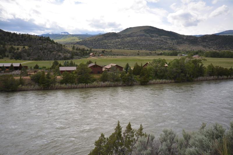 The Smith Family Ranch view from highway 89. Yellowstone River is a stone's throw away.