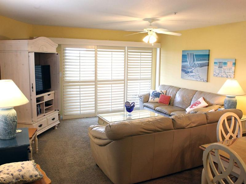 View the gulf and swimming pools from this condo, vacation rental in Miramar Beach