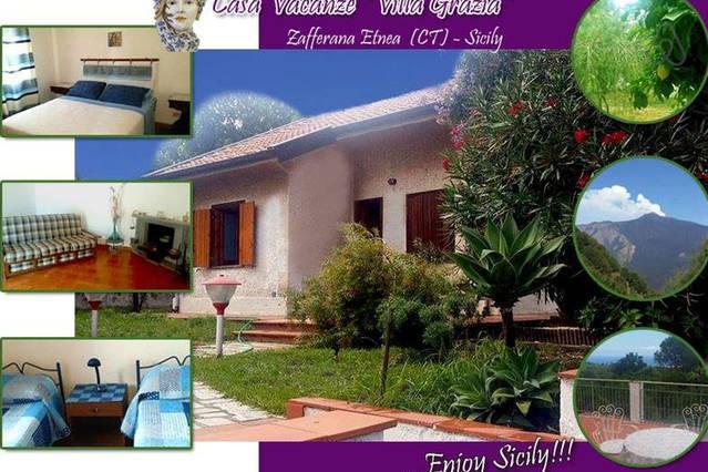 VILLA GRAZIA:  graziosa villetta tra Etna e mare, holiday rental in Santa Venerina