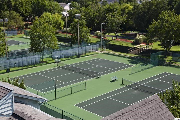 Tennis courts on the resort grounds.