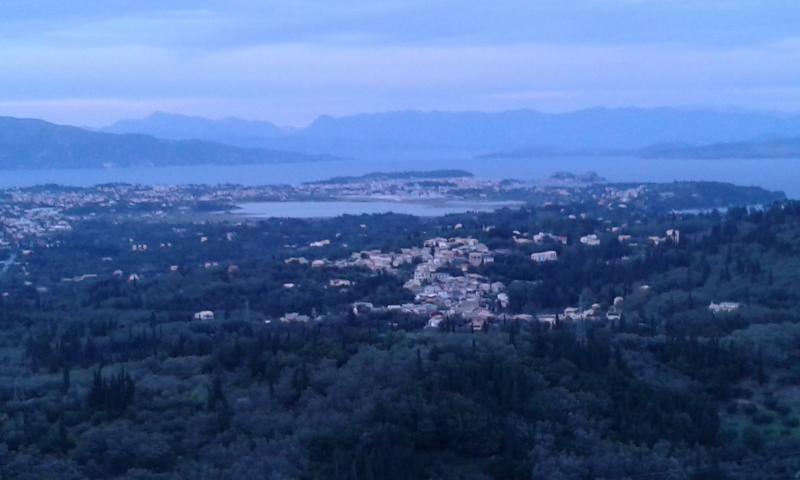 Corfu town & airport view