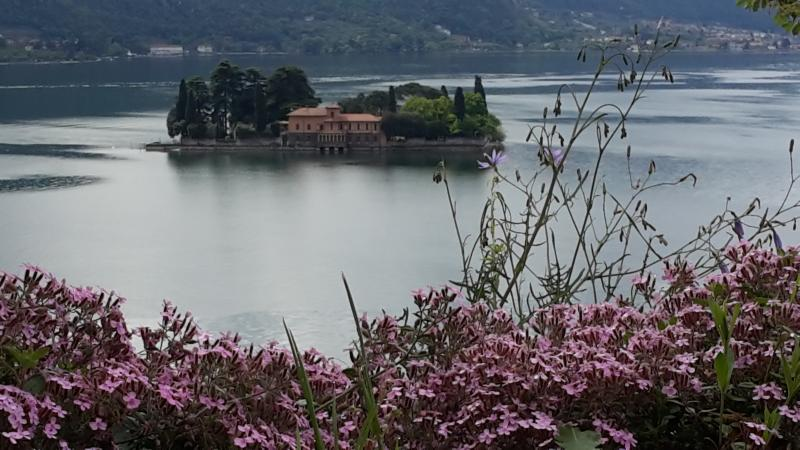 The small island of San Paolo view from the Monte Isola