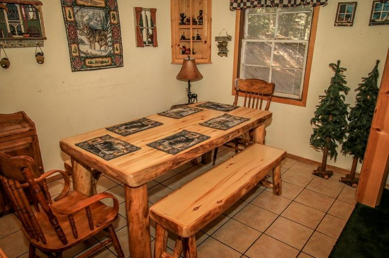 Log Dining Table to seat up to 8!