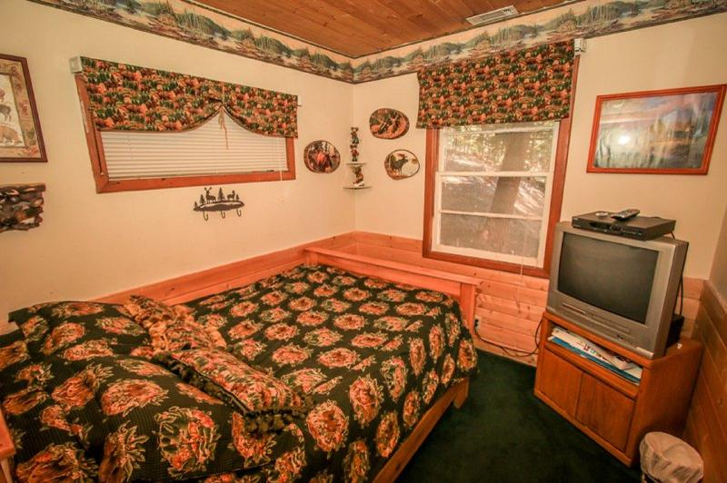 Moose Room with handmade bedding & drapery and Cable TV