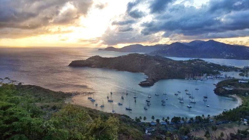 World famous panoramic view of Freemans Bay featured on every Antigua brochure worldwide.