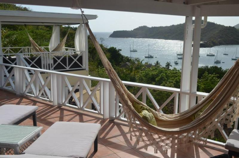 Relax on the sun loungers and hammocks with gorgeous sea views.