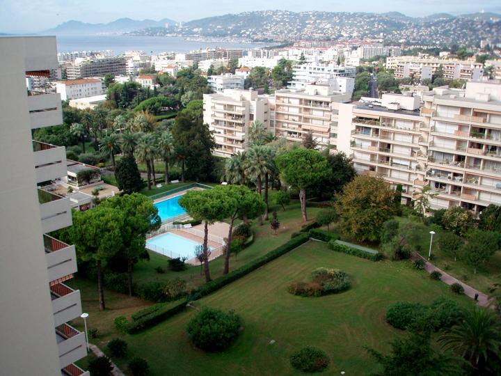 Balcony view towards pools