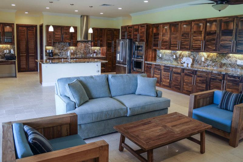 The open floor plan is perfect for large groups and families.