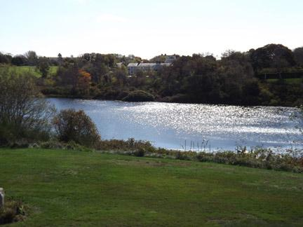 View of Black Pond from Front Yard