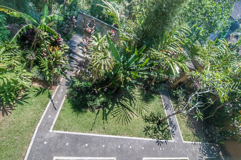 Jungle view from the upstairs balcony.