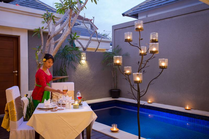 In-Villa Romantic Dinner Preparation