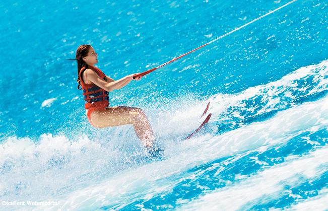 Try some water sports and have fun at the beach!