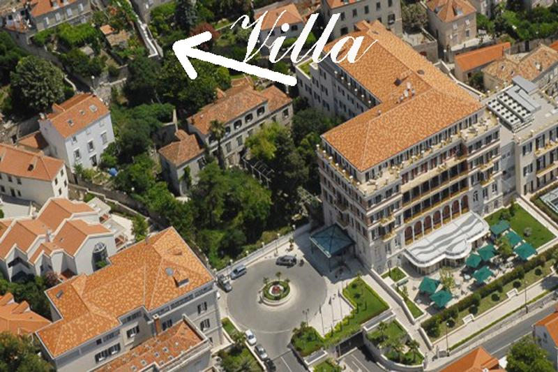 Location of Villa Next to Old Town and Hotel Hilton Dubrovnik