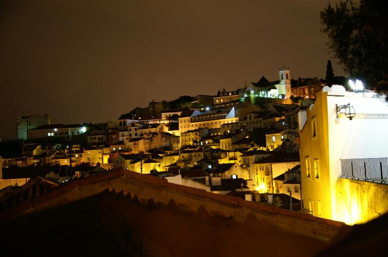Night view of the Tagus River from the upstairs bedroom.