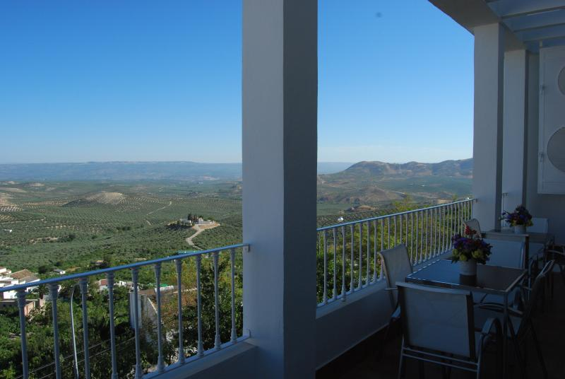 Vista desde la terraza del salón del apartamento 'La Graja'