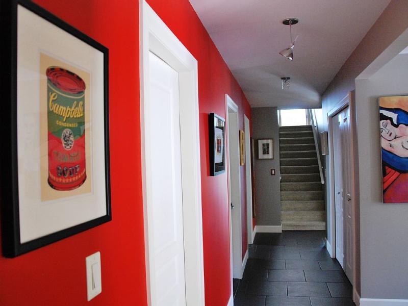 hallways leading to master bedroom
