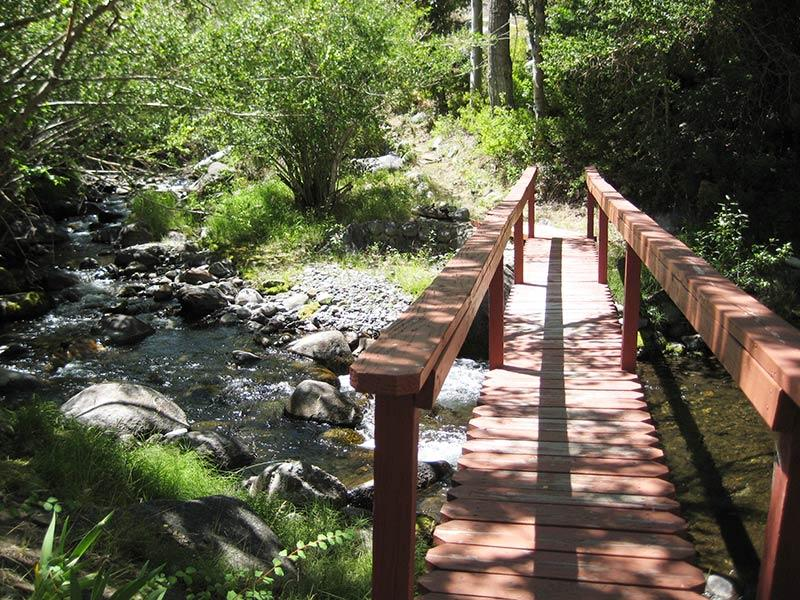 Bridge Over McGee Creek and to Hiking Trails