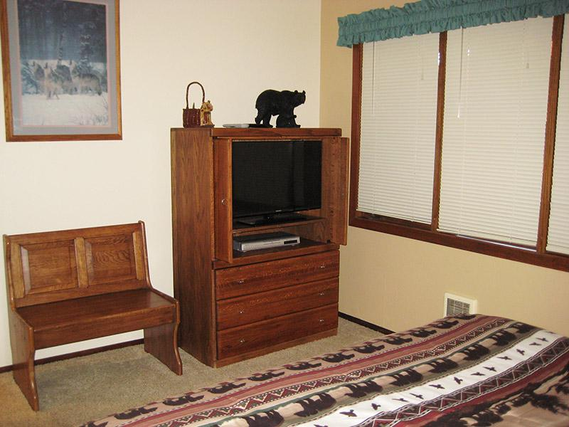 Master Bedroom (Other Direction) with Flat Screen