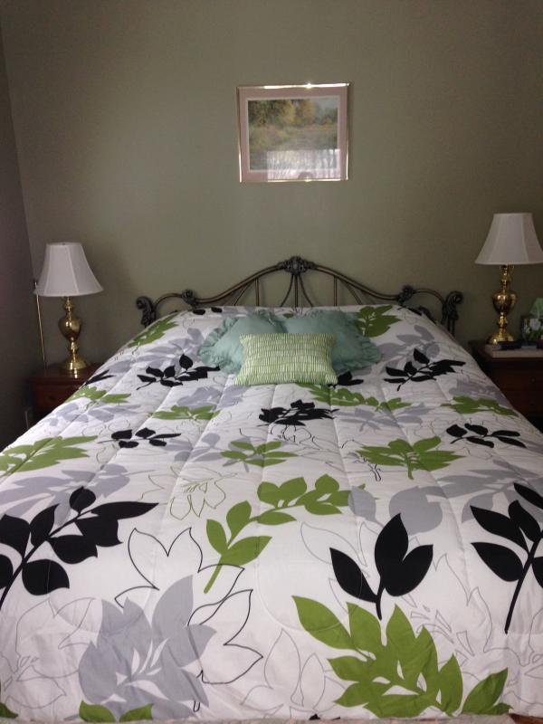 habitación verde - cama
