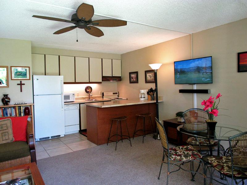 Kitchen/Dining area: New ceiling fan, Sony Flat Screen LED Smart HDTV w/ Vizio Sound Bar