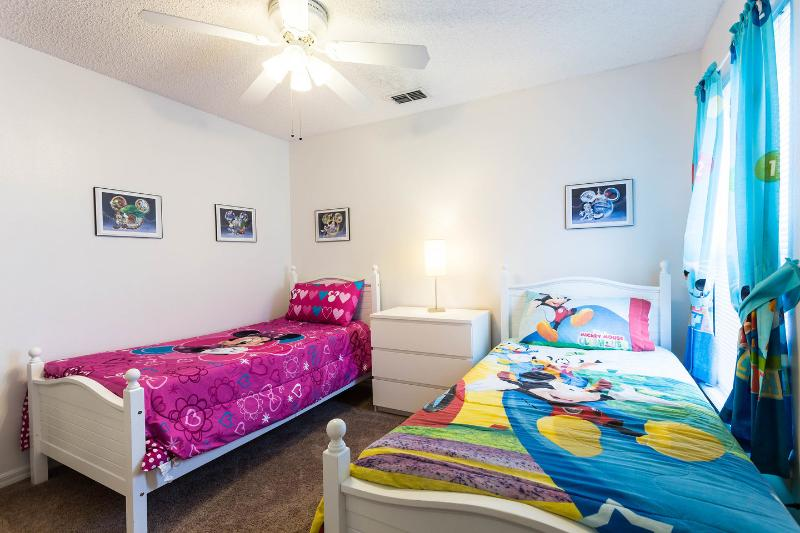 The Twin Bedroom (Mini Mouse Bedspread)