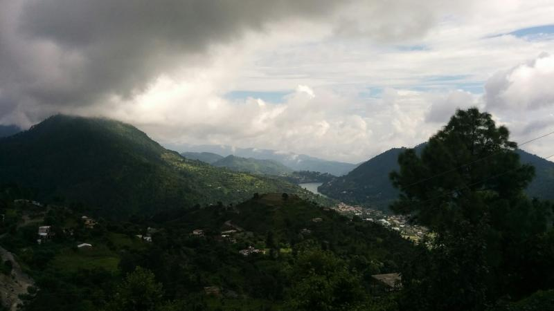 Picturesque View from Cottage of Bhimtal Lake Valley