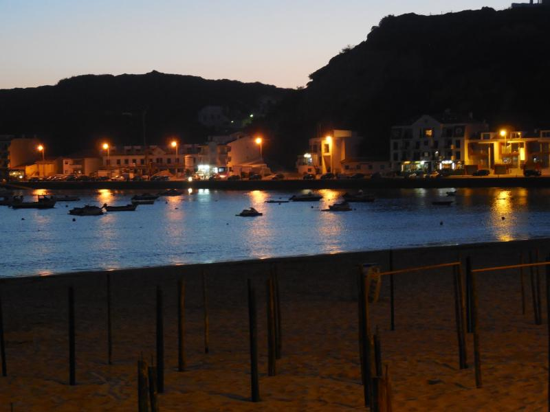 S Martibho harbour at night