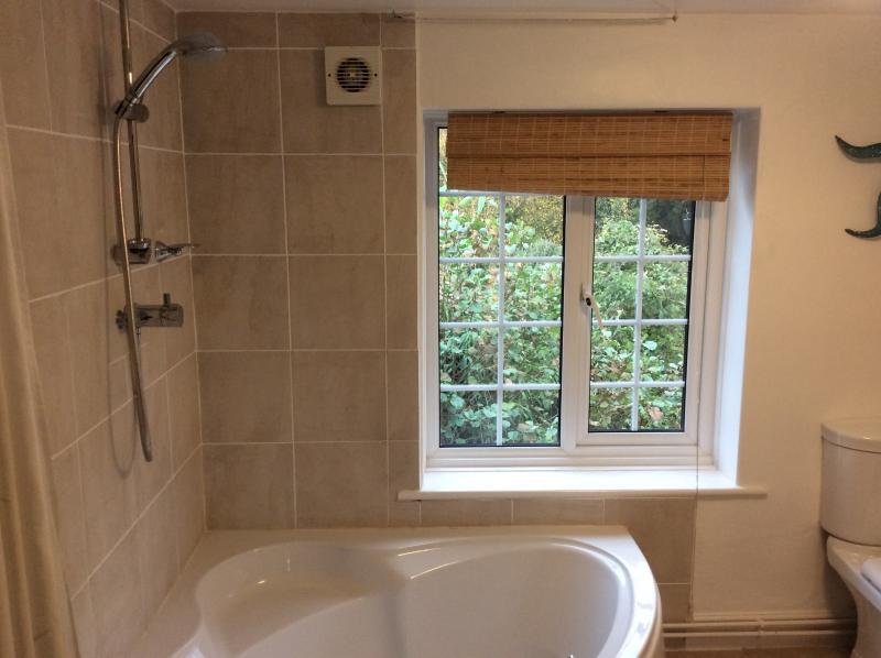 Corner Bath and Shower
