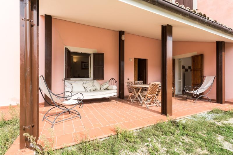 The Villa verandah + large BBQ (not showing on photo).