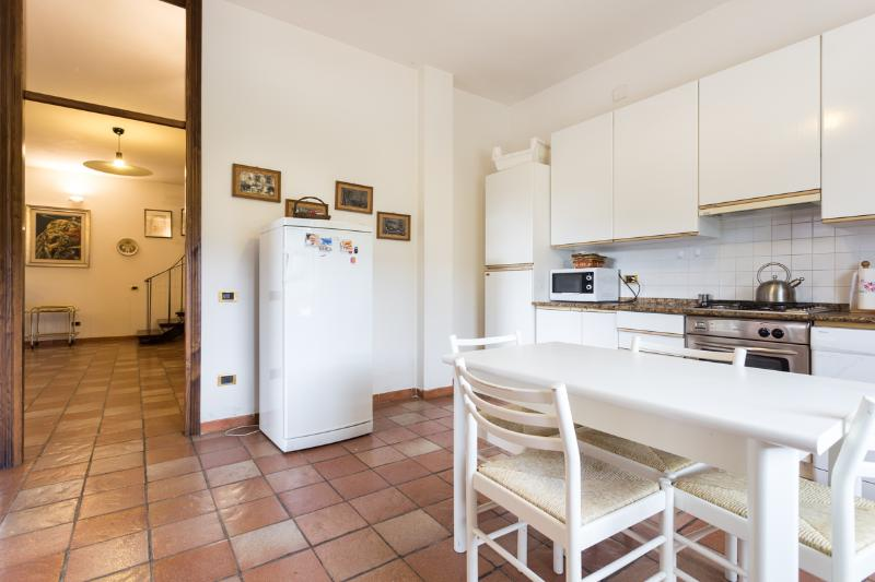 The Villa with fully fitted kitchen with dish-washer + washing machine.