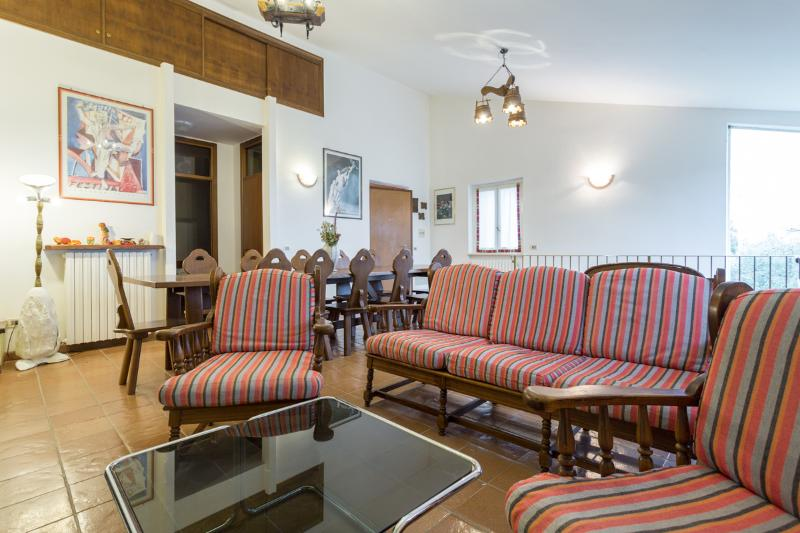 The Lodge - large sitting/dining room.