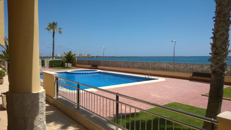 Unheated outdoor Pool and Gardens with fabulous views over the Beach / Mediterranean Sea.