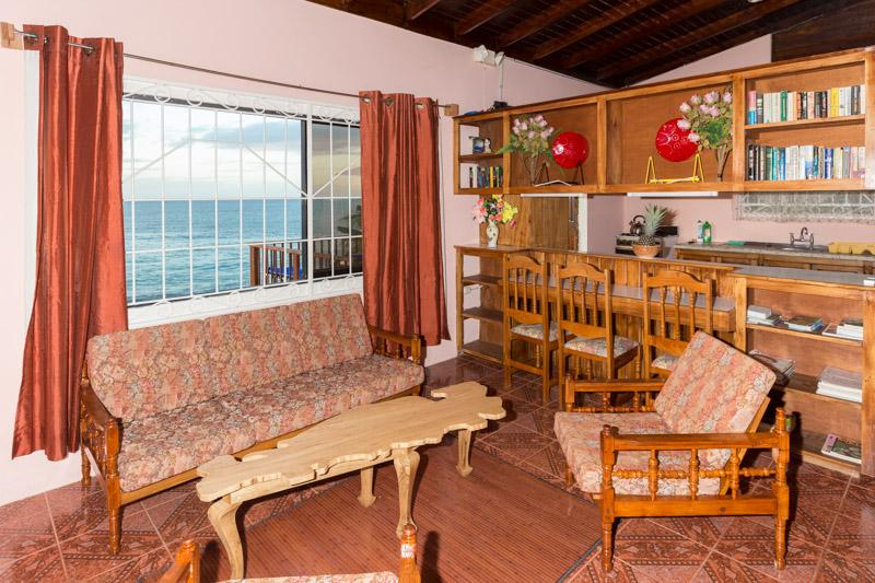 The house is design to Caribbean 90's style which. Guest can sit in AC and enjoy the ocean view.
