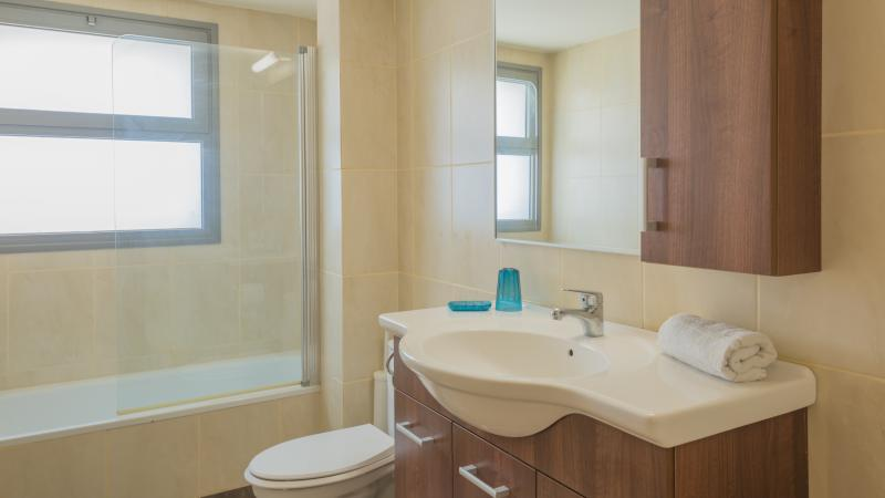 Bathroom (same in all 8 apartments with balcony)