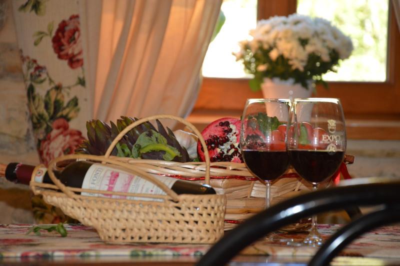 taste a glass of fine wine chianti classico..