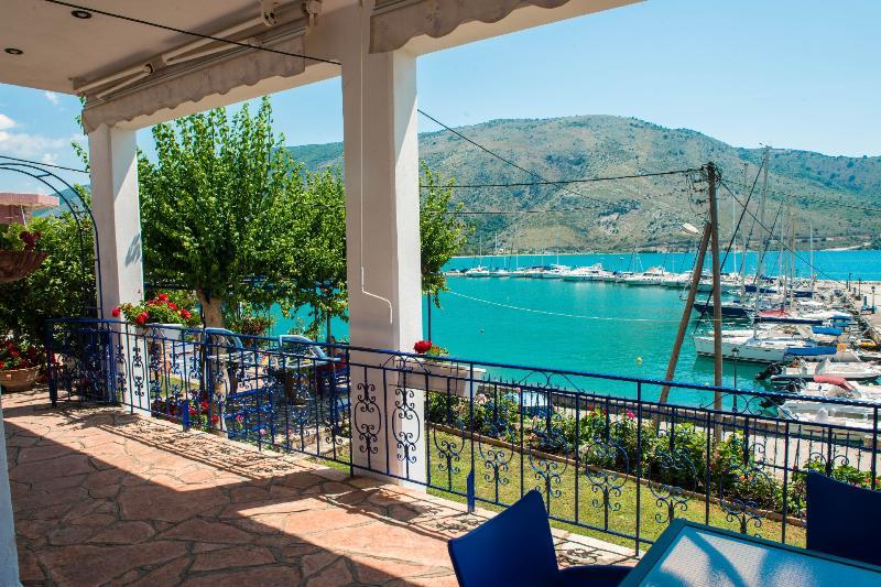 The marina of Plataria by the apartment's veranda