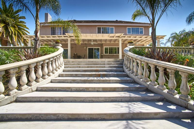 Steps from Pool/Spa to house